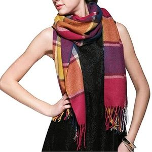 Plaid Cashmere Feel Classic Luxurious Winter Scarf